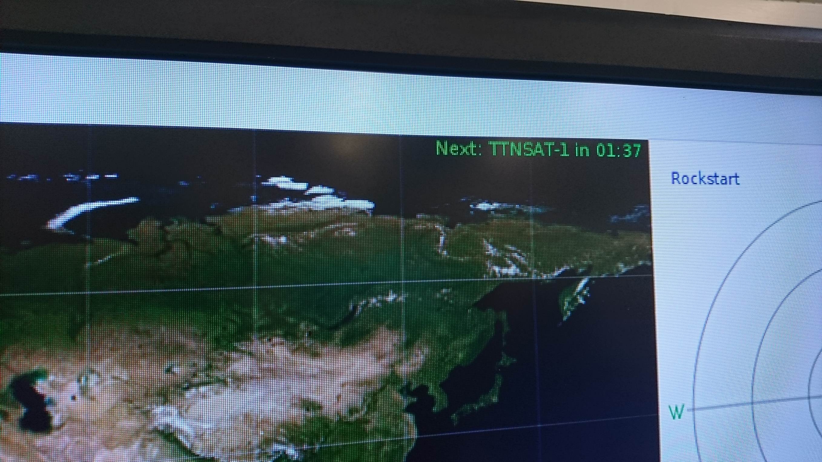LoRa transmission from low orbit satellite during The Things