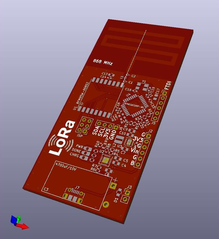 PCB antenna, solar powered LoRa node - Hardware - The Things