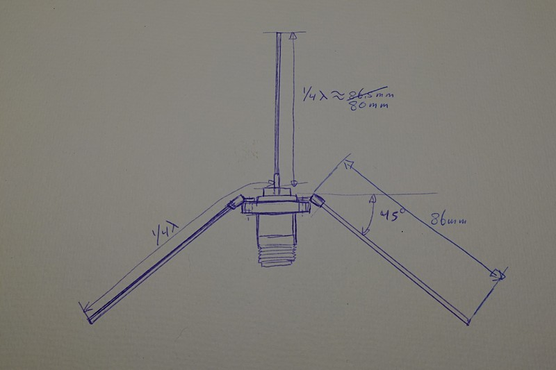 Very simple homemade outdoor 868Mhz antenna (groundplane