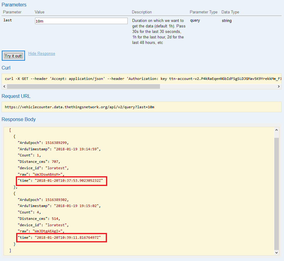 Timezone Error in TTN Swagger API TimeStamps - The Things