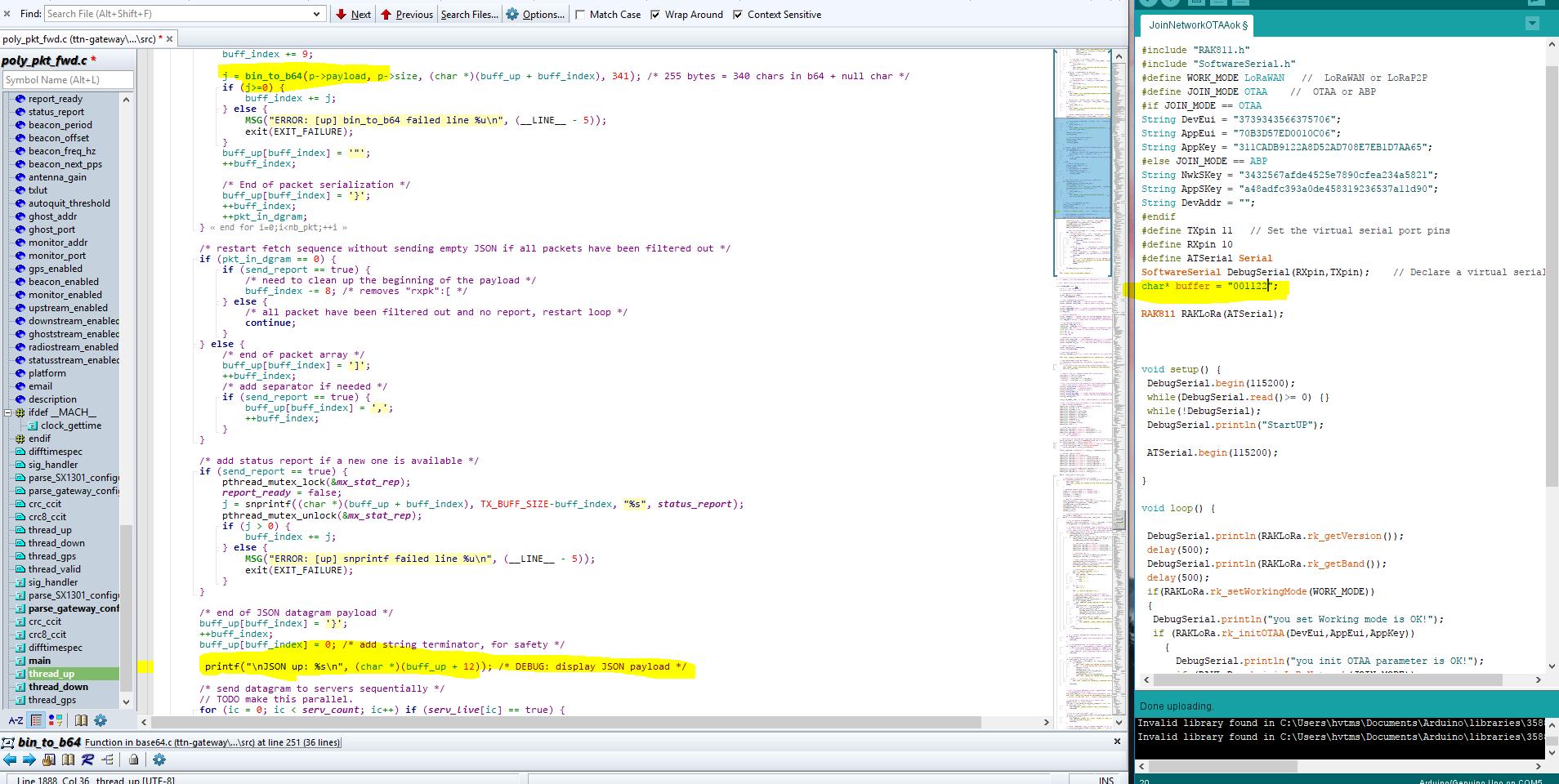 RAK831  how to show data from rak811 to RAK831 on rasberrypi