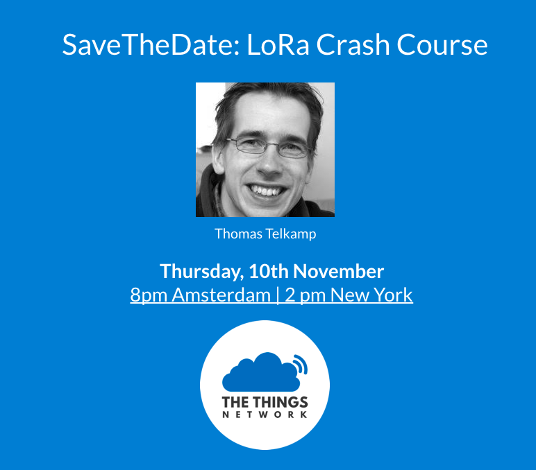 LoRa Crash Course by Thomas Telkamp - News - The Things Network