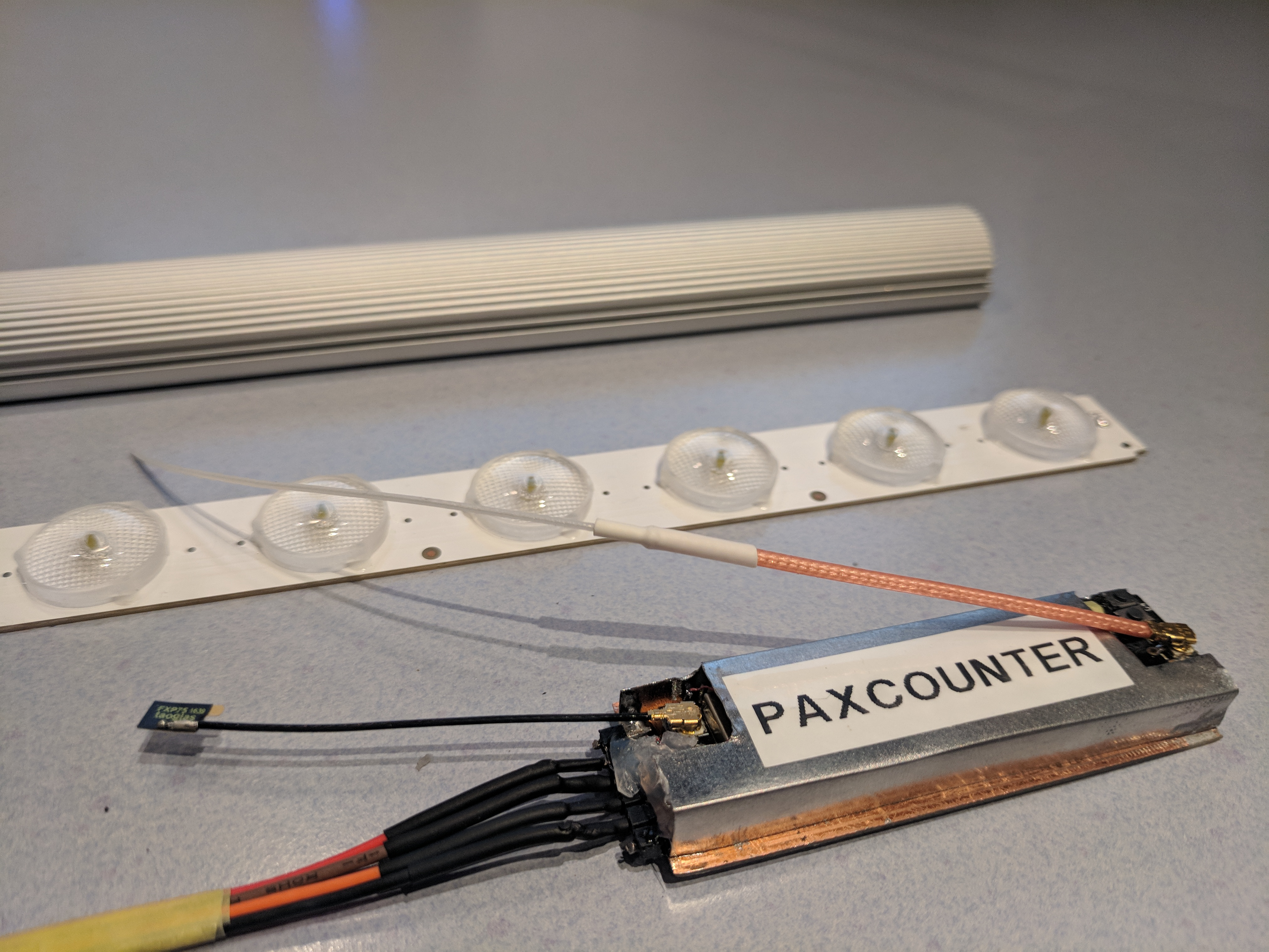 Wifi/BLE Paxcounter Project with ESP32 boards - End Devices (Nodes