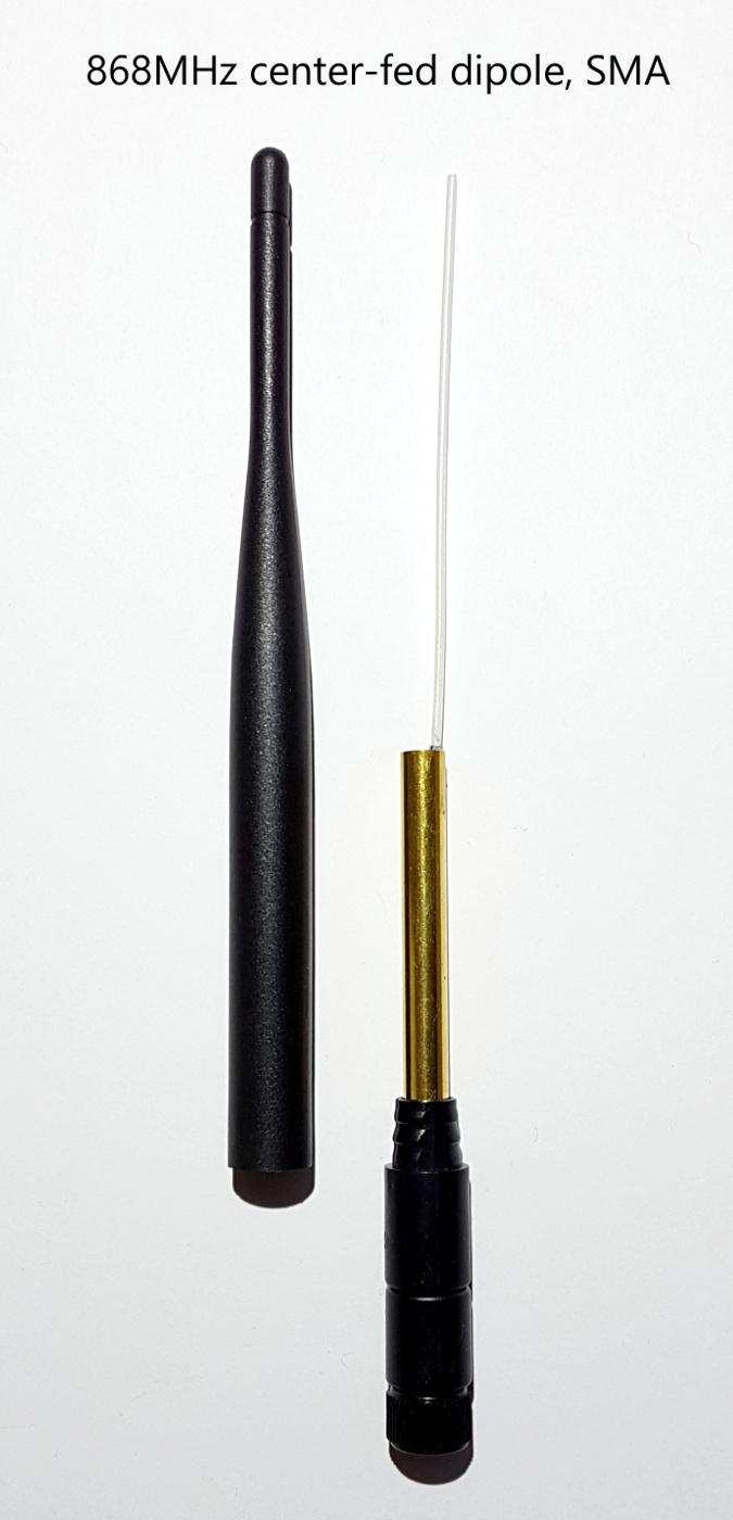 868MHz center-fed dipole, SMA antenna 675x1400