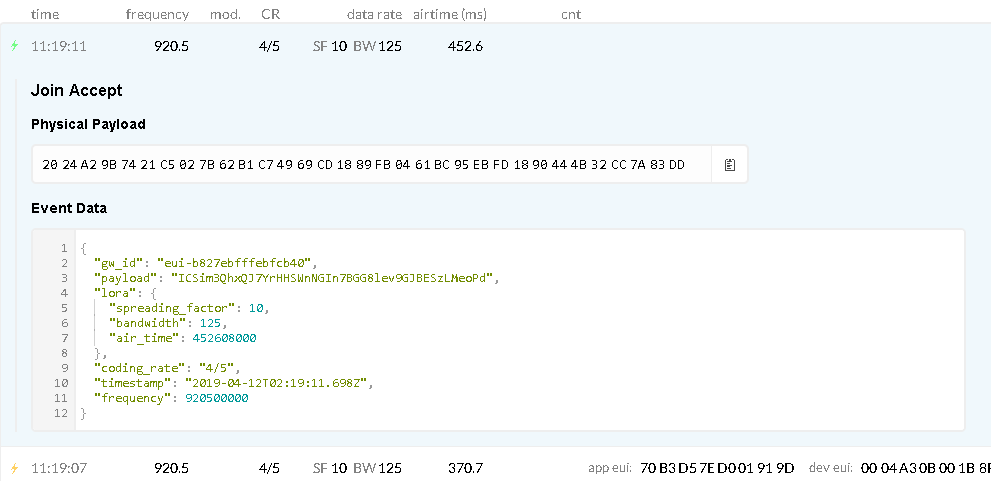 Raspberry Pi and Rak831 gateway show connected but not show in ttn