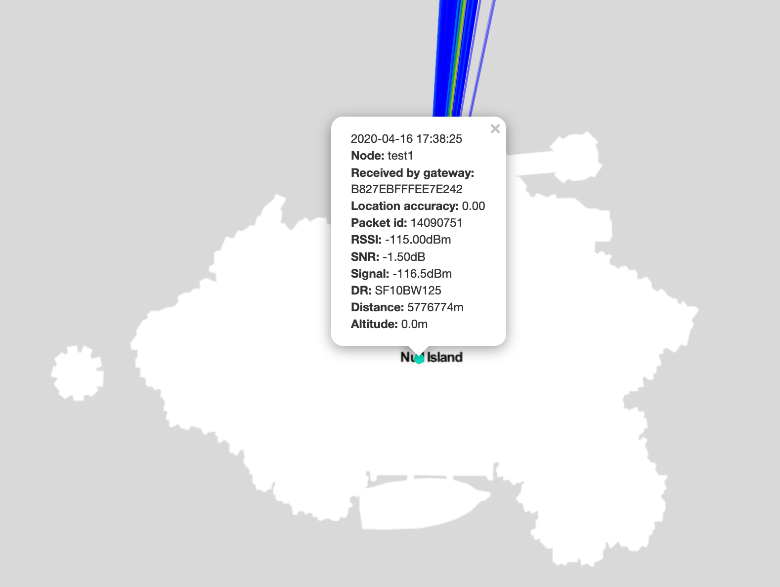 TTN Mapper Null Islang