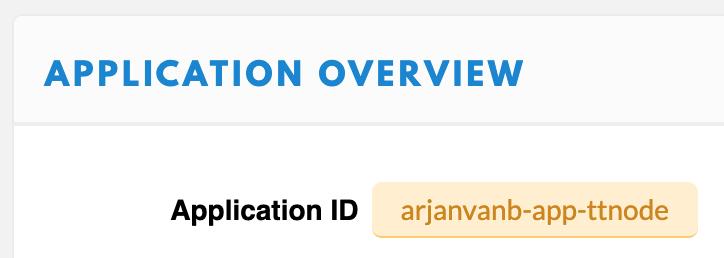 TTN Console Application ID