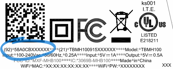 AP MAC address on label