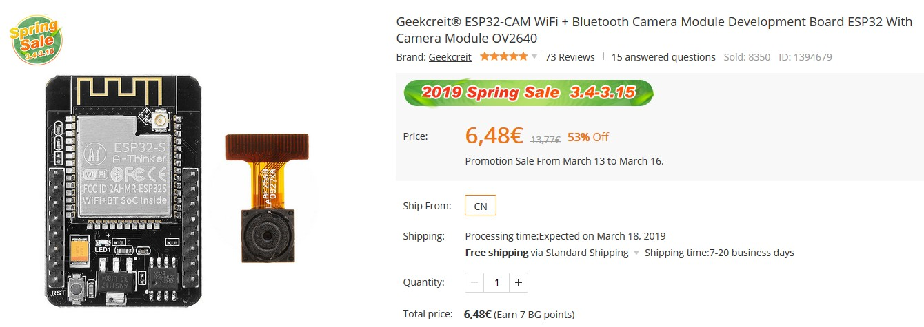 Geekcreit%C2%AE%20ESP32-CAM%20WiFi%20%20%20Bluetooth
