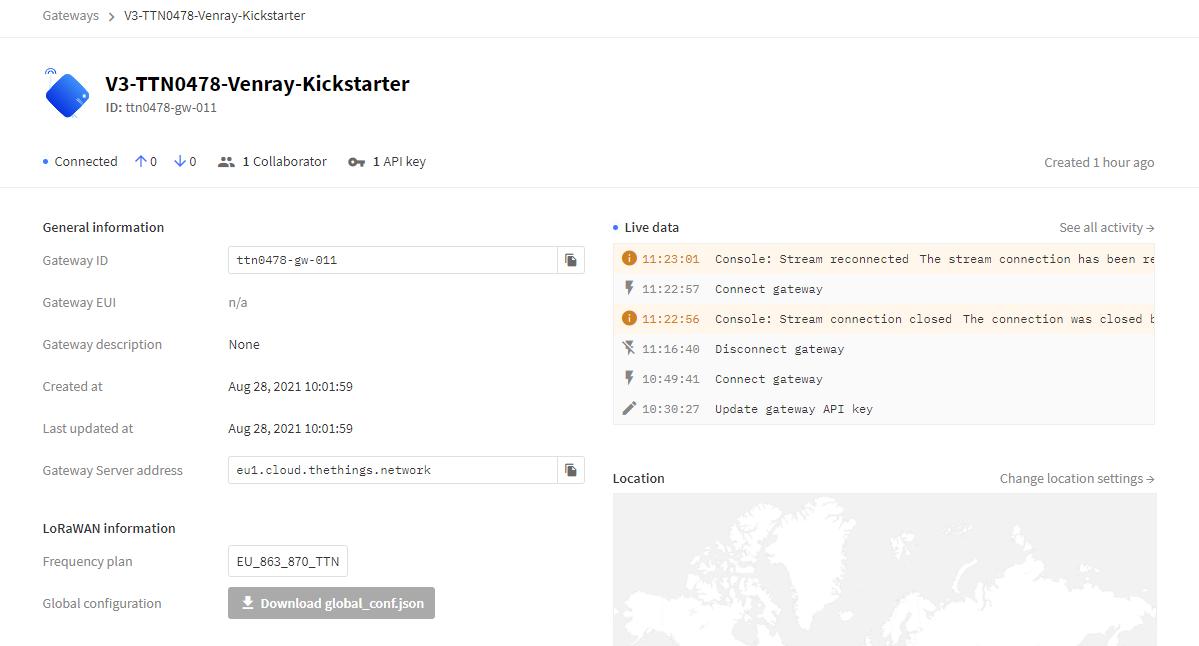 TTN Kickstartergateway Connected 2