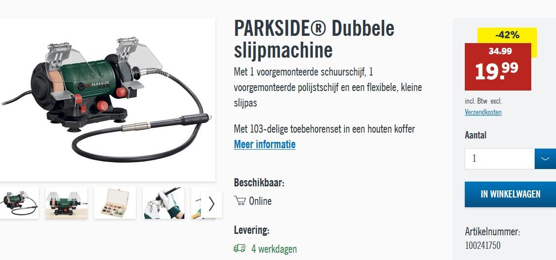 PARKSIDE-Dubbele-slijpmachine