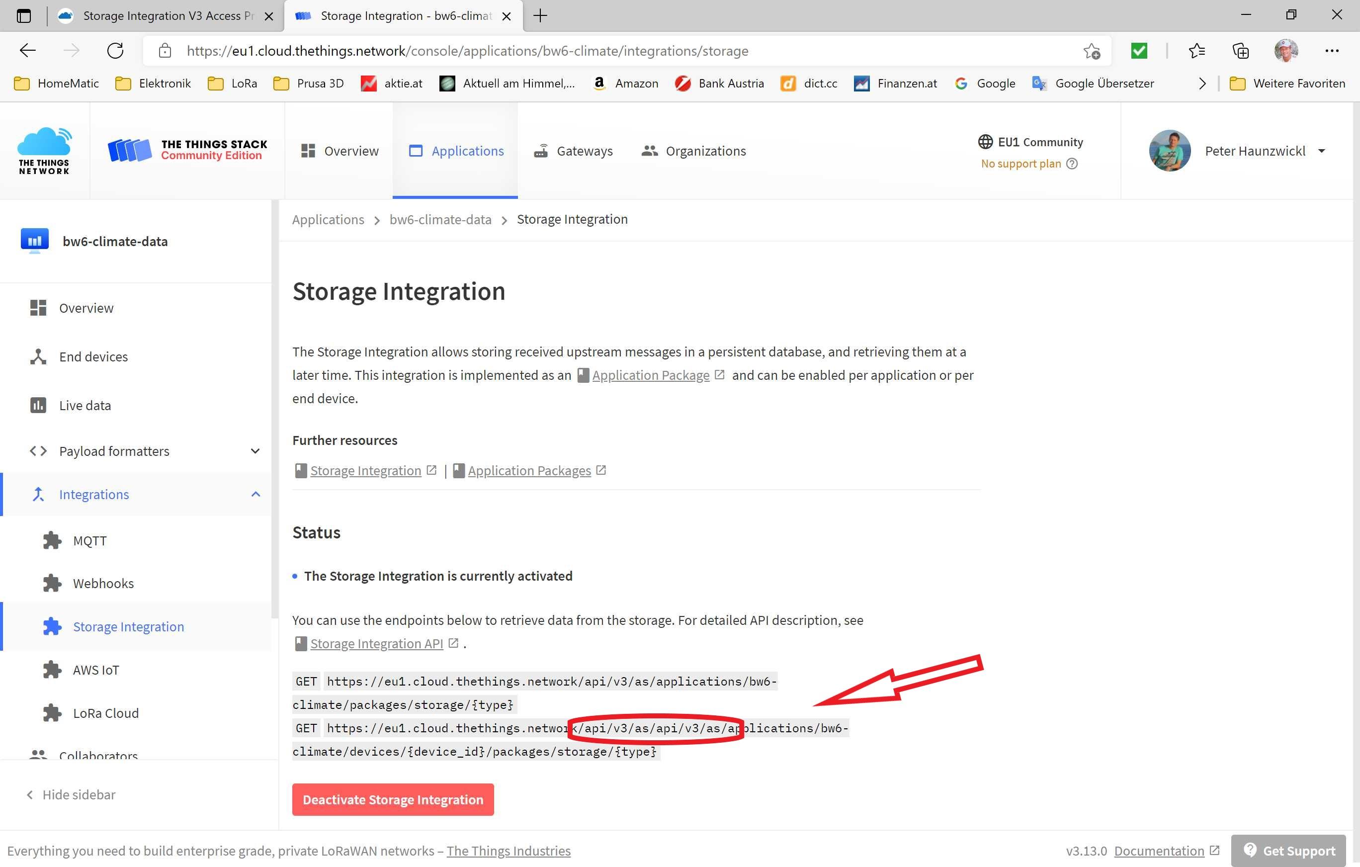 Storage Integration