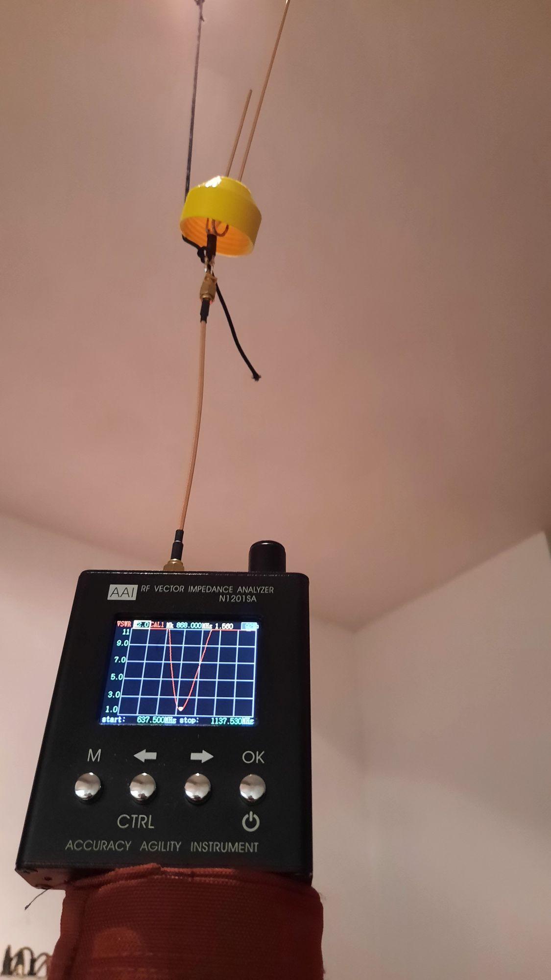 Antenne-VSWR-Grafiek