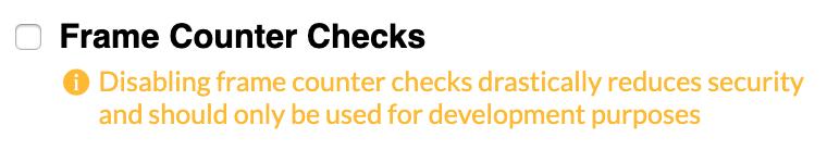 frame counter checks